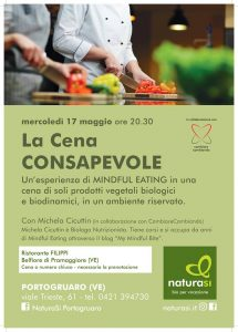 cena di mindful eating con michela cicuttin